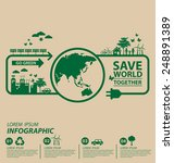 ecology concept. save world...   Shutterstock .eps vector #248891389