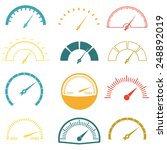 speedometer or gauge icons set... | Shutterstock .eps vector #248892019