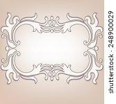 vintage frame for retro banners ... | Shutterstock .eps vector #248900029