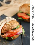 sandwiches with salmon and...   Shutterstock . vector #248900464