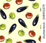 vegetable seamless background.... | Shutterstock .eps vector #248901079