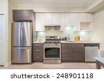 modern  bright  clean  kitchen... | Shutterstock . vector #248901118