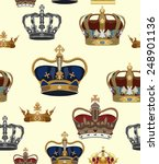 crowns vector seamless pattern | Shutterstock .eps vector #248901136