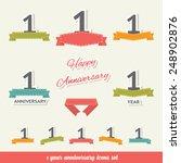 1 years anniversary icons... | Shutterstock .eps vector #248902876