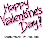 happy valentines day   vector... | Shutterstock .eps vector #248903488