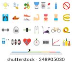 fitness sport and health...   Shutterstock .eps vector #248905030
