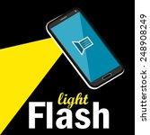 flashlight or torch flat design ...