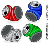 crushed tin cans. | Shutterstock .eps vector #248912908