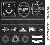 vintage hipster labels and... | Shutterstock .eps vector #248913568