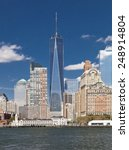 the new york city skyline at... | Shutterstock . vector #248914804