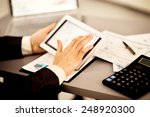 businessman with finger... | Shutterstock . vector #248920300