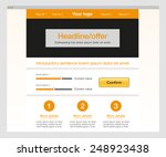 orange website template. modern ...