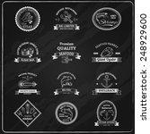 Vintage Seafood Badges...