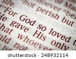 Biblical Text. John 3.16....