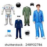 astronaut boy character pack... | Shutterstock .eps vector #248932786