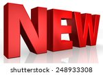 3d new text on white background | Shutterstock . vector #248933308