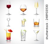 alcohol drinks in realistic... | Shutterstock .eps vector #248933530