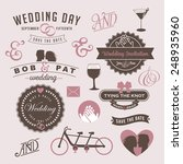vintage wedding invitation... | Shutterstock .eps vector #248935960
