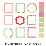 frame set and a set of the... | Shutterstock .eps vector #248937694