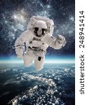 astronaut in outer space... | Shutterstock . vector #248941414