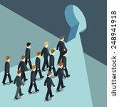 business movement towards... | Shutterstock .eps vector #248941918