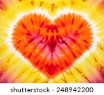 heart. abstract tie dyed fabric ... | Shutterstock . vector #248942200