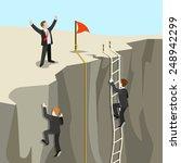 challenge carrier goal... | Shutterstock .eps vector #248942299