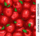 fresh apples seamless texture   Shutterstock .eps vector #248945344