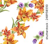 colorful seamless floral... | Shutterstock . vector #248958550