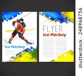 vector concept of ice hockey... | Shutterstock .eps vector #248968756
