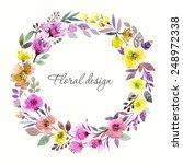 floral wreath. invitation....   Shutterstock .eps vector #248972338