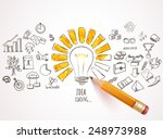idea loading. business icons... | Shutterstock .eps vector #248973988