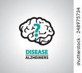 Alzheimer Icon And Symbol
