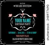 black dominate birthday card... | Shutterstock .eps vector #248977690
