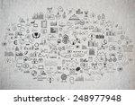 school college chalkboard hand... | Shutterstock . vector #248977948