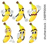 illustration of banana in... | Shutterstock .eps vector #248990044