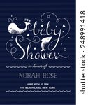 baby shower invitation with... | Shutterstock .eps vector #248991418