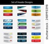 set of header designs | Shutterstock .eps vector #248993398