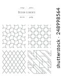 vintage set   patterns   thin... | Shutterstock .eps vector #248998564