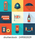 london vintage icons | Shutterstock .eps vector #249002029