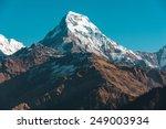 Stock photo himalaya mountains nepal 249003934