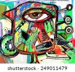 original abstract digital... | Shutterstock .eps vector #249011479