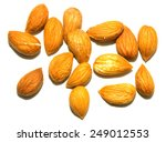 almond apricot on a white... | Shutterstock . vector #249012553