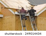 construction crew working on... | Shutterstock . vector #249014434