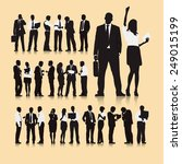 vector of business silhouettes | Shutterstock .eps vector #249015199