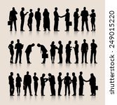 vector of business silhouettes | Shutterstock .eps vector #249015220