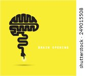 brain opening concept.creative... | Shutterstock .eps vector #249015508