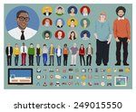 people icon set social media... | Shutterstock .eps vector #249015550