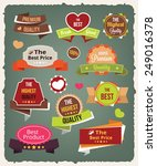 vector vintage colorful... | Shutterstock .eps vector #249016378