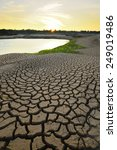 drought land so long waterless   Shutterstock . vector #249019486